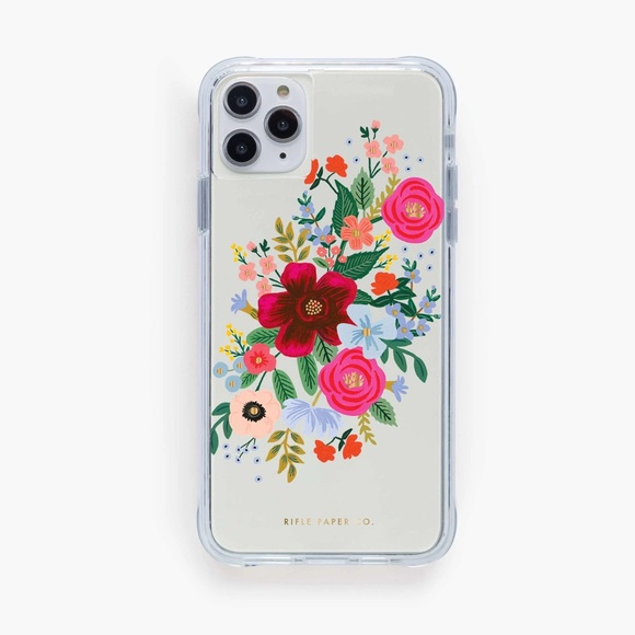 Clear Rifle Paper Co. iPhone XS Phone Case